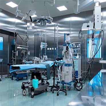 صورة لقسم معدات غرف العناية المركزة