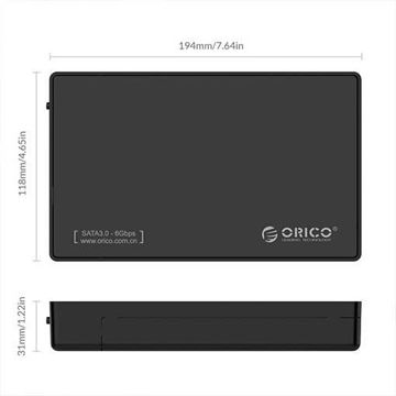 ORICO Toolfree USB 3.0 to SATA External 3.5 Hard Drive Enclosure Case for 3.5 SATA HDD and SSD