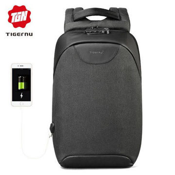Picture of Tigernu T-B3611 TSA Lock Fashion Anti theft USB Laptop Backpacks Multifunction Waterproof Leisure Men Boys School Backpack
