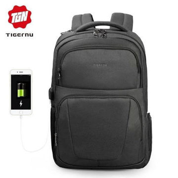 Picture of TIGERNU Splashproof Backpack with Wireless Charging Pocket T-B3511