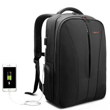 Picture of Tigernu T-B3220 USB Charger Laptop Backpacks Water Repellent Nylon Men Anti theft Business Computer Backpack School Bag