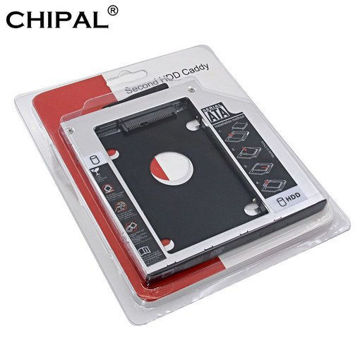 """Picture of Aluminum Second HDD Caddy 9.5mm SATA III 3.0 for 2.5"""" SSD Case Hard Disk Bracket For Notebook CD-ROM"""