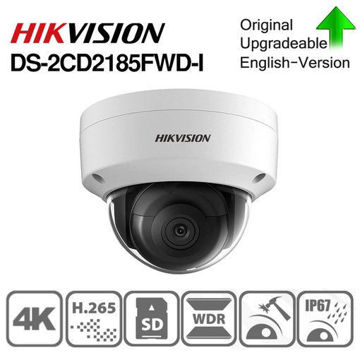 Picture of Hikvision 8MP IP Camera DS-2CD2185FWD-I 2.8MM Lens Network Dome Camera ONVIF PoE H.265+ IP67 Outdoor Waterproof Security Camera Support Upgrade Face Detection