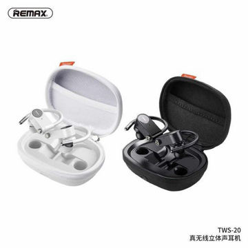 Remax TWS-20 True Stereo Waterproof Wireless Bluetooth V5.0 Music Earbuds with Charging Case من هب له .كوم