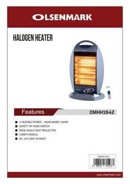 Picture of Olsenmark  Electric Quartz Heater,OMHH1642 with remote control .